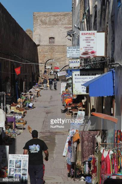 Daily life in the coastal town of Essaouira Morocco Africa