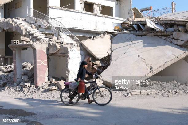 Daily life in the Douma Near Damascus area after the signing of the Ceasefire Memorandum at the Astana Conference Syria May 6 2017