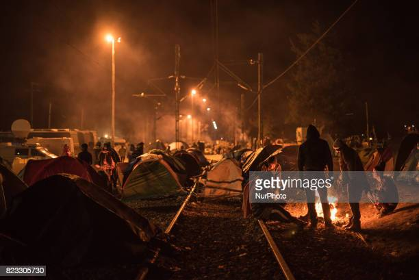 Daily life inside a refugee camp in Idomeni Greece After Macedonia closed its border to informal migration the socalled quotBalkan Routequot was...