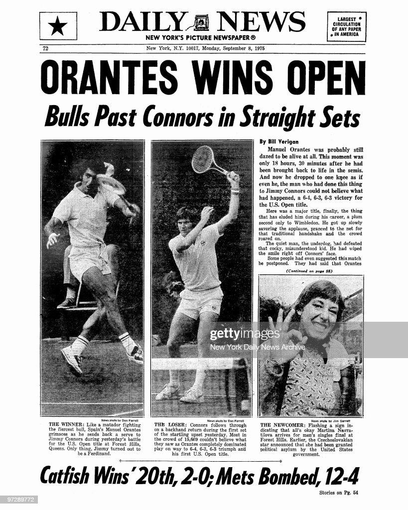 Daily News back page September 8 1975 Headline ORANTES