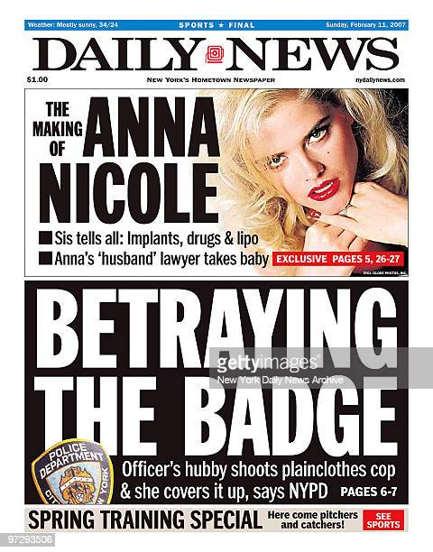 Daily News front page February 11 Headline BETRAYING THE BADGE Officer's hubby shoot plainclothes cop she covers it up says NYPD Jose Rivera...
