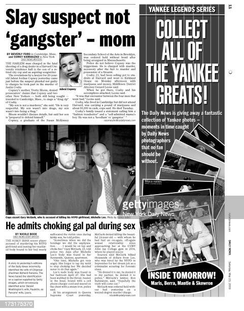 Daily News page 11 May 23 2009 Headline Slay suspect not 'gangster' mom Harlem man charged in fatal shooting of a drug dealer in Harvard University...