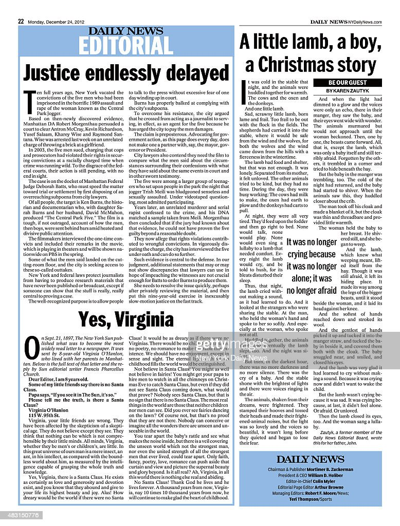 Daily News Page 22 December 24 Headline EDITORIAL Page