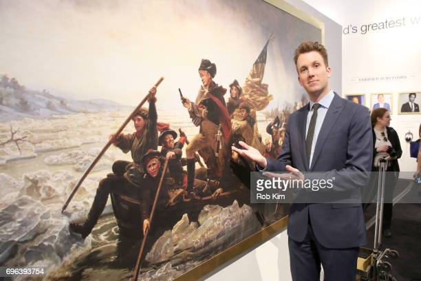 Daily Show Correspondent Jordan Klepper attends The Donald J Trump Presidential Twitter Library Press Preview presented by Comedy Central's The Daily...