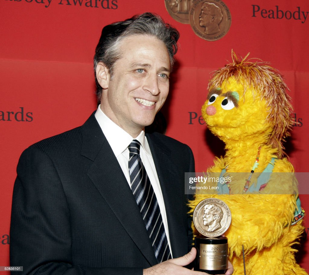 'Daily Show' host John Stewart and Kami pose for photos during the 64th Annual Peabody Awards Luncheon held at the WaldorfAstoria May 16 2005 in New...