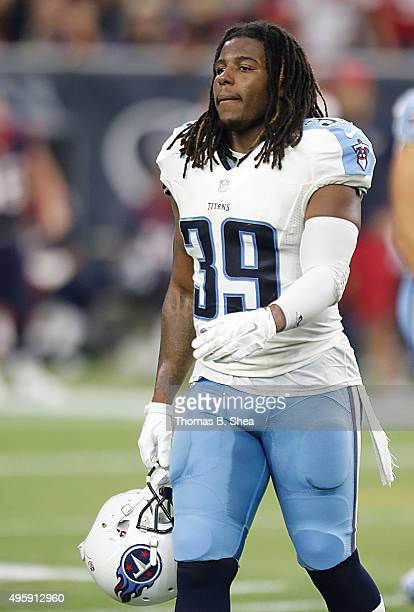 Daimion Stafford of the Tennessee Titans against the Houston Texans on November 1 2015 at NRG Stadium in Houston Texas Texans won 20 to 6
