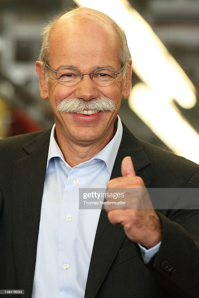 Daimler AG CEO <a gi-track='captionPersonalityLinkClicked' href=/galleries/search?phrase=Dieter+Zetsche&family=editorial&specificpeople=241297 ng-click='$event.stopPropagation()'>Dieter Zetsche</a> visits the main production hall for the new A-Class Mercedes-Benz passenger car at the Mercedes-Benz factory on July 16, 2012 in Rastatt, Germany. Mercedes is struggling with difficult market conditions in Europe yet expects to achieve record global sales for the year on the heels of selling 652,924 cars in the first six months of 2012.
