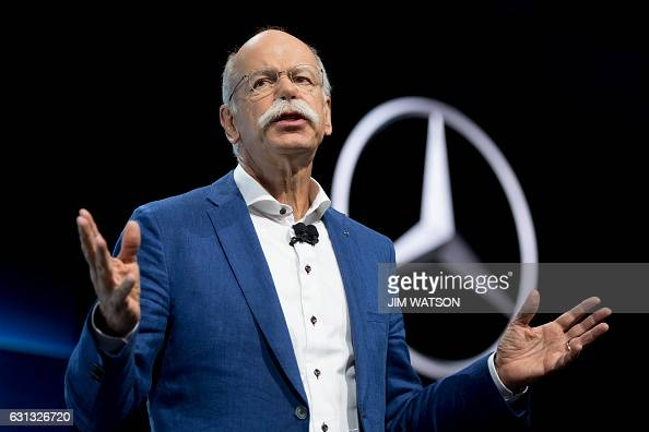 Daimler AG Chief Executive Officer Dieter Zetsche speaks at the Mercedes press conference during the 2017 North American International Auto Show in...