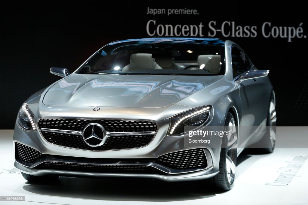 Daimler AG's Mercedes-Benz Concept S-Class Coupe vehicle stands on display at the 43rd Tokyo Motor Show 2013 in Tokyo, Japan, on Thursday, Nov. 21, 2013. The autoshow will be open to the public from Nov. 23 to Dec. 1 at the Tokyo International Exhibition Center, also known as the Tokyo Big Sight. Photographer: Kiyoshi Ota/Bloomberg via Getty Images