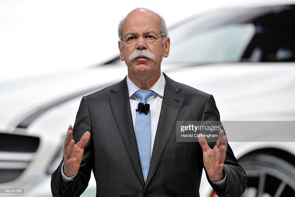 Daimler CEO Dieter Zetsche delivers a speech during the Mercedes-Benz presentation as part of the 83rd Geneva Motor Show on March 5, 2013 in Geneva, Switzerland. Held annually the Geneva Motor Show is one of the world's five most important auto shows with this year's event due to unveil more than 130 new products.