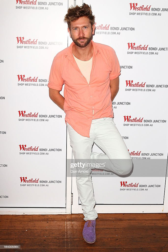 Daimon Downey poses at the Westfield Autumn/Winter 2013 launch at Pelicano Bar on March 19, 2013 in Sydney, Australia.