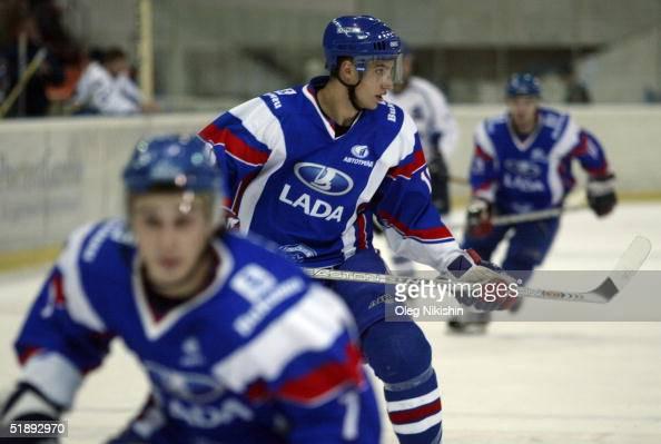 Dainius Zubrus of Lada Togliatti during a game against Dynamo Moscow December 24 2004 at Luzhniki Ice Arena in Moscow Russia Lada Togliatti defeated...