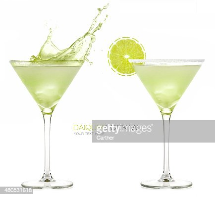 Daiquiri Frozen Cocktail. Splashes : Stock Photo
