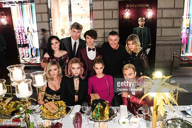 Daisie Smith Starlie Smith Pyper America Smith Lucky Blue Smith Dylan Jagger Lee Sarah Snyder Stefano Gabbana Sofia Richie and Brandon Thomas Lee...
