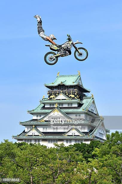 Daisuke 'Daice' Suzuki of Japan during qualifying for the Red Bull XFighters World Tour on May 24 2014 in Osaka Japan