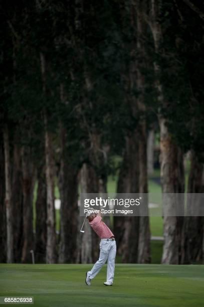 Daisuke Kataoka of Japan in action during the UBS Hong Kong Golf Open on 17 November 2012 at the Fanling Golf Course in Hong Kong China