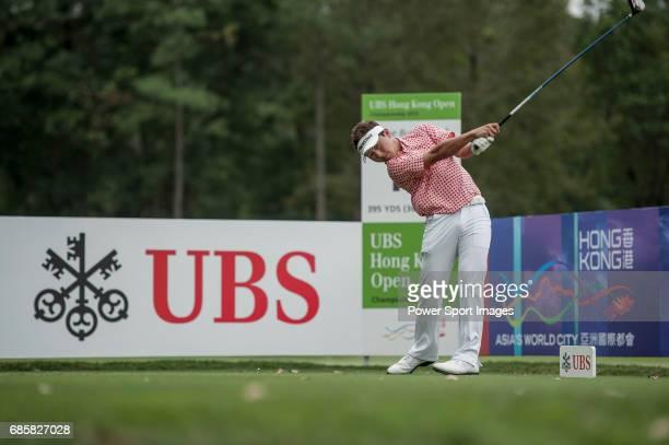 Daisuke Kataoka of Japan in action during the UBS Hong Kong Golf Open on 16 November 2012 at the Fanling Golf Course in Hong Kong China