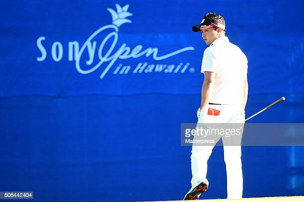 Daisuke Kataoka of Japan looks on during the final round of the Sony Open In Hawaii at Waialae Country Club on January 17 2016 in Honolulu Hawaii