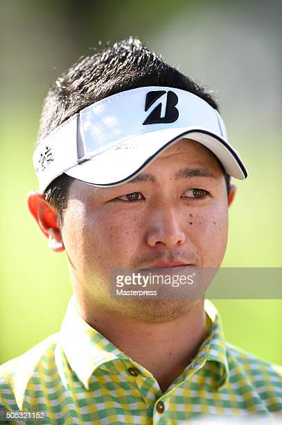Daisuke Kataoka of Japan looks on during the third round of the Sony Open In Hawaii at Waialae Country Club on January 16 2016 in Honolulu Hawaii