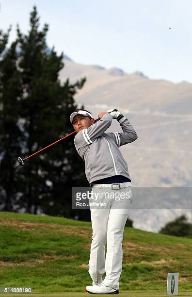 Daisuke Kataoka of Japan plays a driver during day three of the 2016 New Zealand Open at The Hills on March 12 2016 in Queenstown New Zealand