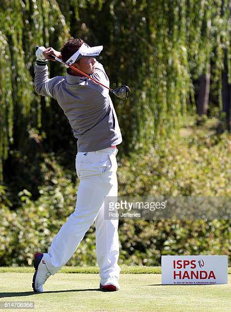 Daisuke Kataoka of Japan plays an iron during day two of the 2016 New Zealand Open at The Hills on March 11 2016 in Queenstown New Zealand
