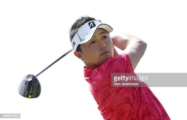 Daisuke Kataoka of Japan plays his shot from the 14th tee during the first round of the Sony Open In Hawaii at Waialae Country Club on January 14...