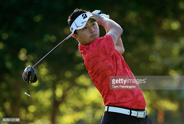 Daisuke Kataoka of Japan plays his shot from the first tee during the first round of the Sony Open In Hawaii at Waialae Country Club on January 14...