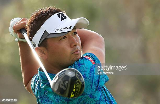 Daisuke Kataoka of Japan plays his shot from the fourth tee during the first round of the Sony Open In Hawaii at Waialae Country Club on January 12...