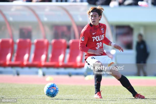 Daisuke Kikuchi of Urawa Red Diamonds in action during the preseason friendly between Urawa Red Diamonds and FC Seoul at Urawa Komaba Stadium on...