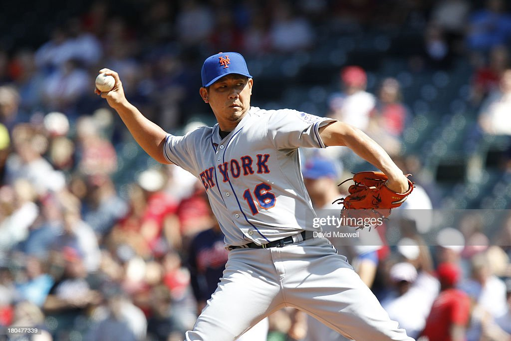 <a gi-track='captionPersonalityLinkClicked' href=/galleries/search?phrase=Daisuke+Matsuzaka&family=editorial&specificpeople=797706 ng-click='$event.stopPropagation()'>Daisuke Matsuzaka</a> #16 of the New York Mets pitches against the Cleveland Indians during the second inning of their game on September 8, 2013 at Progressive Field in Cleveland, Ohio. The Mets defeated the Indians 2-1.