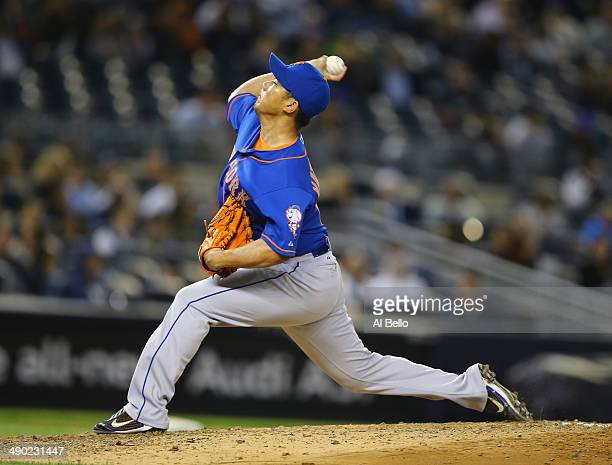 Daisuke Matsuzaka of the New York Mets pitches against the New York Yankees during their game at Yankee Stadium on May 13 2014 in the Bronx borough...