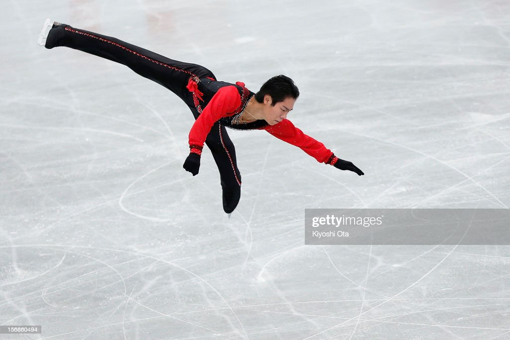 Daisuke Murakami of Japan competes in the Men Short Program during day one of the ISU Grand Prix of Figure Skating NHK Trophy at Sekisui Heim Super Arena on November 23, 2012 in Rifu, Japan.