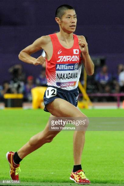 Daisuke Nakagawa of Japan competes in the Men's 1500m T20 during the IPC World ParaAthletics Championships 2017 at London Stadium on July 17 2017 in...