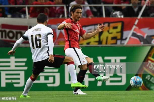 Daisuke Nasu of Urawa Red Diamonds in action during the AFC Champions League Group F match between Urawa Red Diamonds and Western Sydney at Saitama...