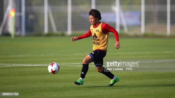 Daisuke Sakai of Japan during a training session at the Daejeon World Cup Stadium training pitch during the FIFA U20 World Cup on May 29 2017 in...
