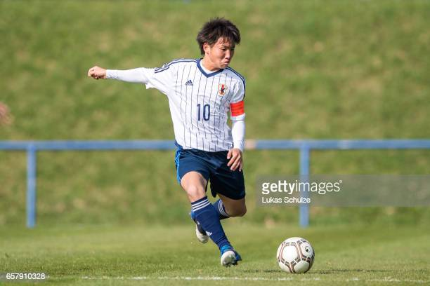 Daisuke Sakai of Japan in action during a Friendly Match between MSV Duisburg and the U20 Japan on March 26 2017 in Duisburg Germany