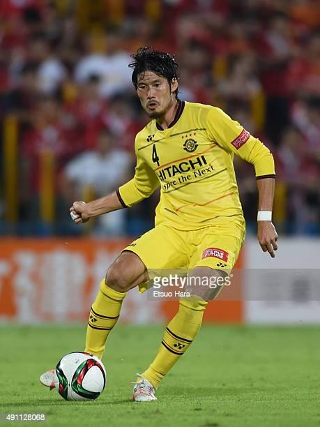 Daisuke suzuki of Kashiwa Reysol in action during the JLeague match between Kashiwa Reysol and Nagoya Grampus at Hitachi Kashiwa Stadium on October 3...