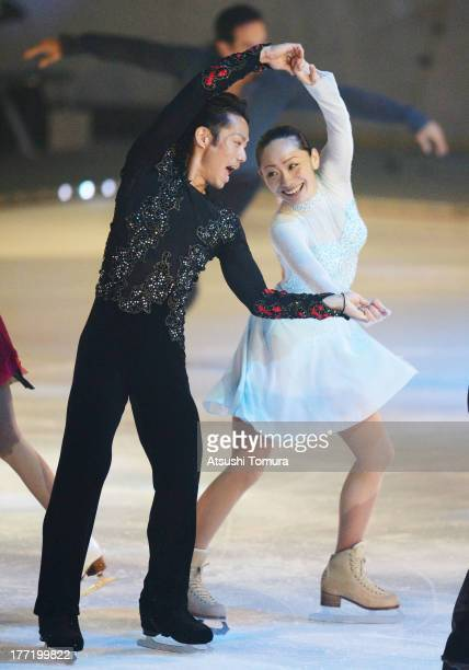 Daisuke Takahashi and Miki Ando of Japan performs during 'Friends on Ice 2013' at ShinYokohama Skate Center on August 22 2013 in Yokohama Japan