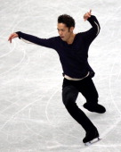 Daisuke Takahashi competes in the Men's Singles Free Program during the 82nd All Japan Figure Skating Championships at Saitama Super Arena on...