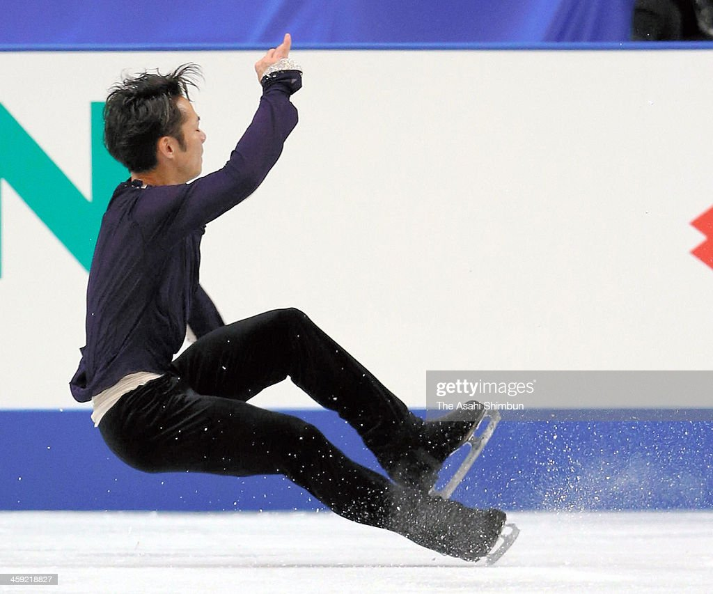 Daisuke Takahashi competes in the Men's Singles Free Program during the 82nd All Japan Figure Skating Championships at Saitama Super Arena on December 22, 2013 in Saitama, Japan.