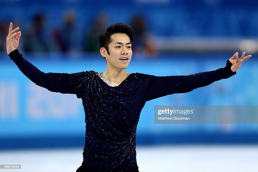 Daisuke Takahashi of Japan competes during the Figure Skating Men's Free Skating on day seven of the Sochi 2014 Winter Olympics at Iceberg Skating...