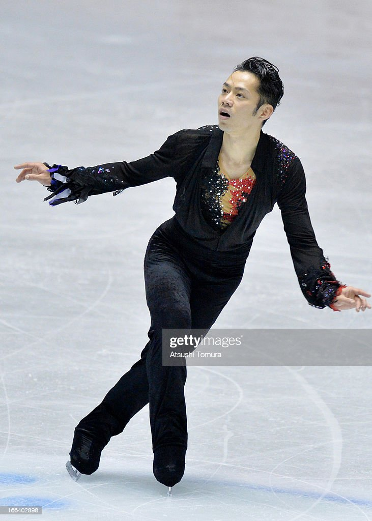 Daisuke Takahashi of Japan competes in the free program during day two of the ISU World Team Trophy at Yoyogi National Gymnasium on April 12, 2013 in Tokyo, Japan.