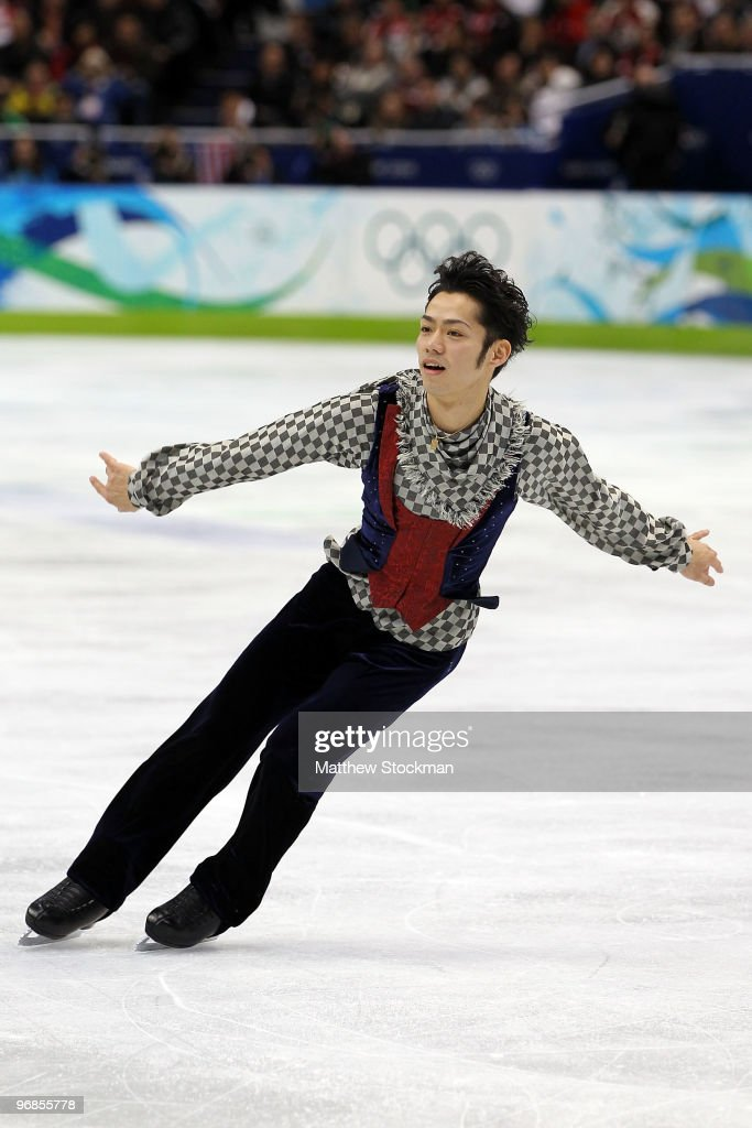 <a gi-track='captionPersonalityLinkClicked' href=/galleries/search?phrase=Daisuke+Takahashi&family=editorial&specificpeople=725172 ng-click='$event.stopPropagation()'>Daisuke Takahashi</a> of Japan competes in the men's figure skating free skating on day 7 of the Vancouver 2010 Winter Olympics at the Pacific Coliseum on February 18, 2010 in Vancouver, Canada.