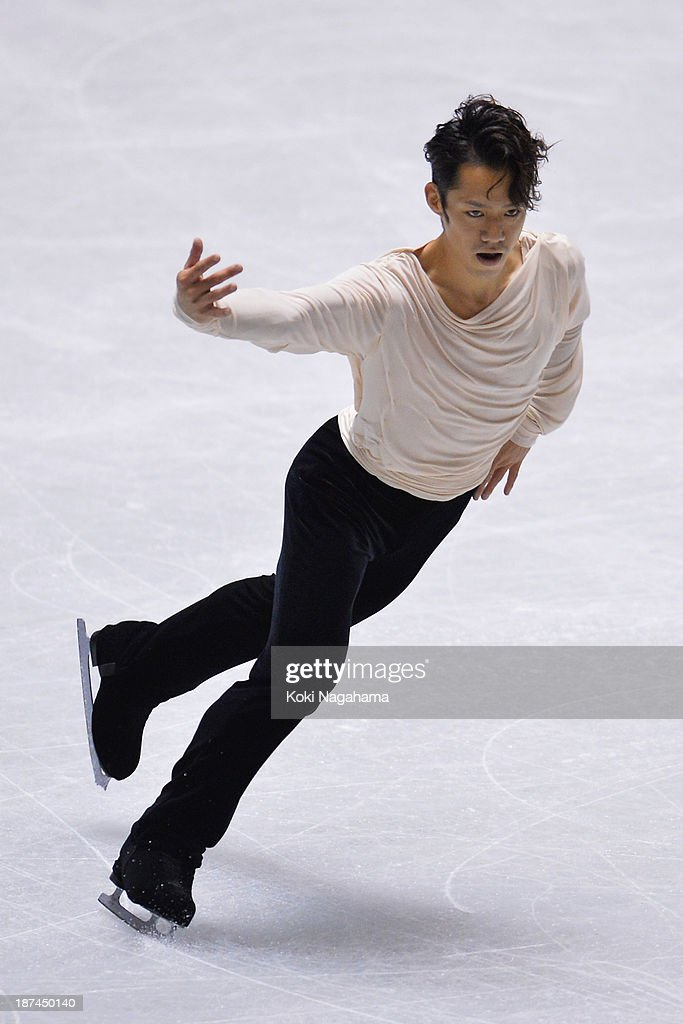 Daisuke Takahashi of Japan competes in the men's free program during day two of ISU Grand Prix of Figure Skating 2013/2014 NHK Trophy at Yoyogi National Gymnasium on November 9, 2013 in Tokyo, Japan.
