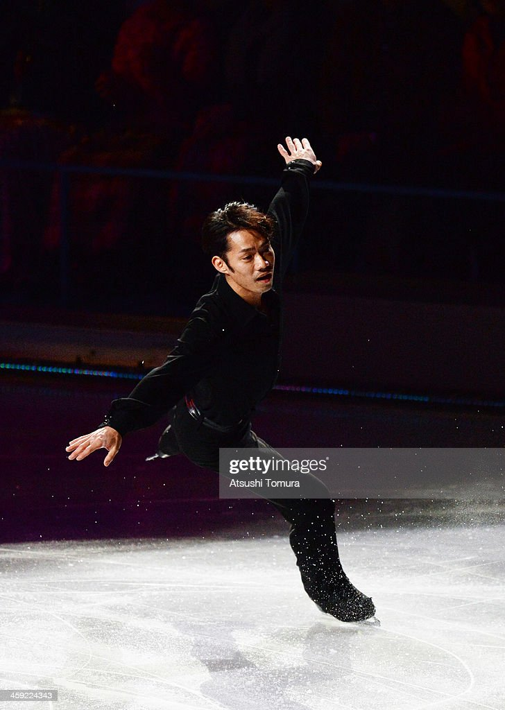 <a gi-track='captionPersonalityLinkClicked' href=/galleries/search?phrase=Daisuke+Takahashi&family=editorial&specificpeople=725172 ng-click='$event.stopPropagation()'>Daisuke Takahashi</a> of Japan performs his routine in the Gala exhibition during All Japan Figure Skating Championships at Saitama Super Arena on December 24, 2013 in Saitama, Japan.