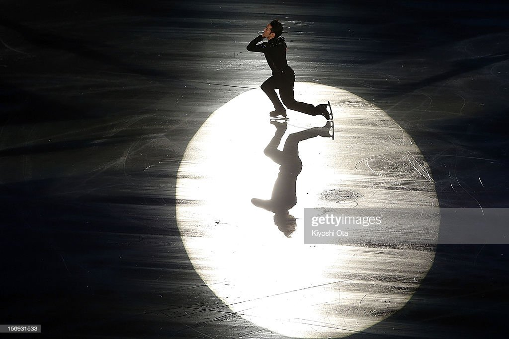 <a gi-track='captionPersonalityLinkClicked' href=/galleries/search?phrase=Daisuke+Takahashi&family=editorial&specificpeople=725172 ng-click='$event.stopPropagation()'>Daisuke Takahashi</a> of Japan performs in the Gala Exhibition during day three of the ISU Grand Prix of Figure Skating NHK Trophy at Sekisui Heim Super Arena on November 25, 2012 in Rifu, Japan.