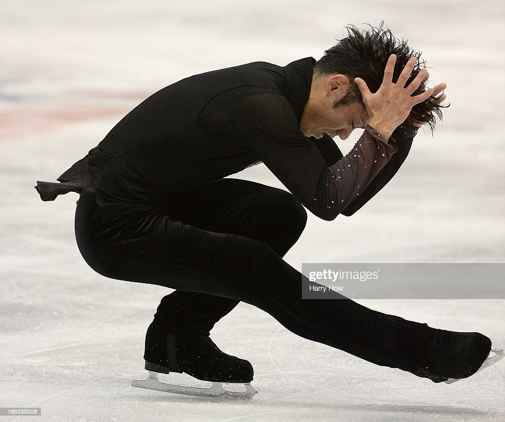 Daisuke Takahashi of Japan skates during the men's short program at Skate America 2013 at Joe Louis Arena on October 18 2013 in Detroit Michigan