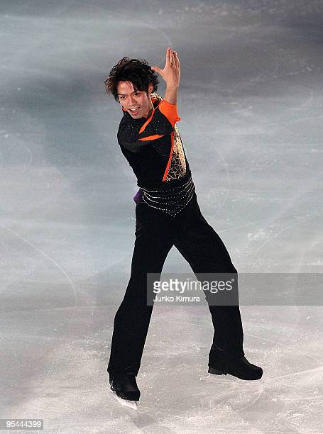 Daisuke Takahashi performs during the All Japan Medalists On Ice at Namihaya Dome on December 28 2009 in Osaka Japan