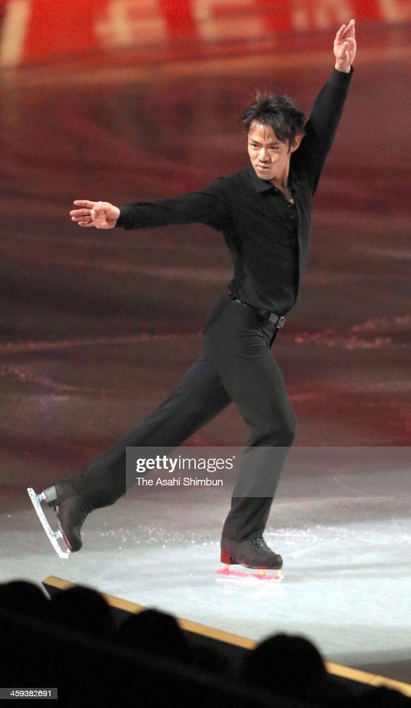 Daisuke Takahashi performs during the gala exhibition during day four of the 82nd All Japan Figure Skating Championships at Saitama Super Arena on December 24, 2013 in Saitama, Japan.