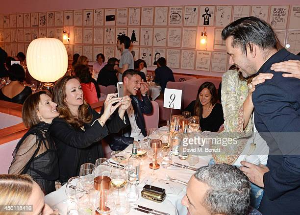 Daisy Bates Lucy Yeomans Ben Jarvis Kim Hersov and Roland Mouret attend a private dinner hosted by Mourad Mazouz Stephen Friedman and David Shrigley...